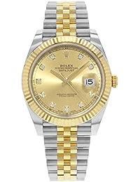 Rolex Datejust 41 Champagne Diamond Steel y 18K oro amarillo Jubilee reloj de los hombres 126333CDJ