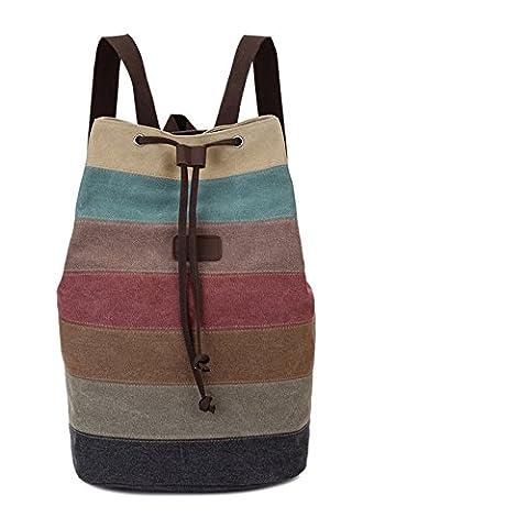 Wewod - Bolso mochila  para mujer Retro Naht 32*22*47 cm