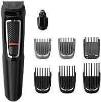 Philips Barbero MG3730/15 - Recortador de Barba y Precisión 8 en 1, Cuchillas autoafilables, Incluye Funda de Viaje,...
