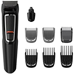 Philips Barbero MG3730/15 - Recortador de Barba y Precisión 8 en 1, Cuchillas autoafilables, Incluye Funda de Viaje