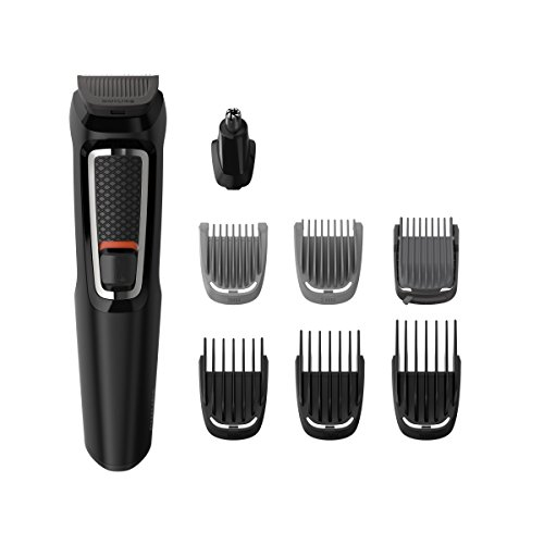 Philips Barbero MG3730/15 - Recortador de Barba y Precisión 8 en 1, Cuchillas autoafilables,...