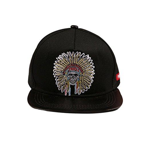 Nikgic Schwarz Weiß Adult Indian Tribe Pattern Fashion Freizeit Hip-Hop-Baseballmütze Leichte Comfort Sonnencreme Einstellbar - Mädchen Hut Indian Für