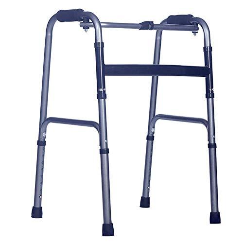 ZXL Walker Walking Frame, verstellbare, Faltbare Aluminium-Mobilitätshilfe für medizinische Geräte -