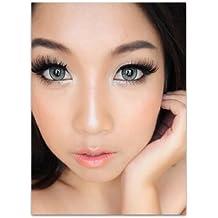 "Farbige Kontaktlinsen ""grey One"" graue Kontaktlinsen farbig ohne Stärke mit Kontaktlinsenbehälter"