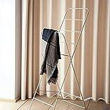 YUAN-Kleiderständer Leiter Garderobe Garderobe Boden bis zur Decke Kleiderbügel Schlafzimmer Einfache Garderobe (Farbe : Weiß)
