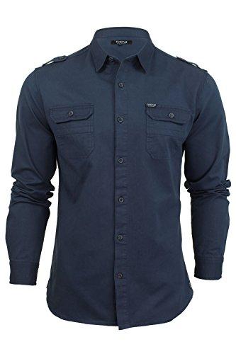 Aspect etiquette Hemd von Firetrap 'Pittson', langärmlig (Marine) S