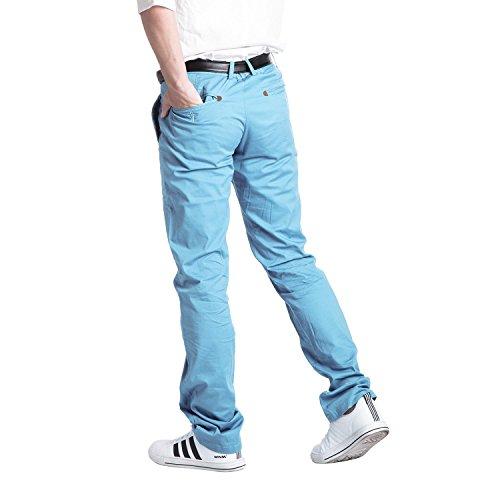 Robelli Homme Designer Suit Coupe Extensible Pantalon Chino Bleu Ciel