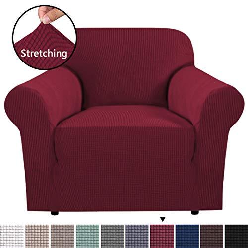 BellaHills Couchbezug für Leder Couch Sofa Schonbezug Stretch Stoff Elastischer Stuhl Armlehnsessel Couch Sofa Sofabezüge 1-Piece Pet Dog Protector