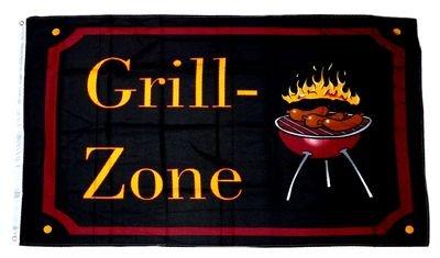 Flagge / Fahne Grill Zone 90 x 150 cm (Grill Fahne)