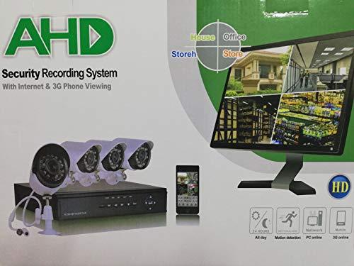 Dvr Security Kit (Kit Videoüberwachung AHD IP Cloud DVR 4Kanal 4Kameras HD Infrarot)
