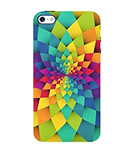 GEOMETRICAL FLOWER PATTERN 3D Hard Polycarbonate Designer Back Case Cover for Apple iPhone 4S