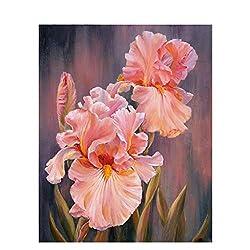 Wanfor flower diy digitales ölgemälde malen nach zahlen leinwand zimmer wohnkultur kein rahmen für Erwachsene und Kinder Gemälde