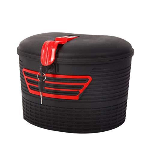 Shumo Aufbewahrung Korb für Elektro Roller Vorne Hinten mit Schloss für Faltbaren Elektro Roller M365