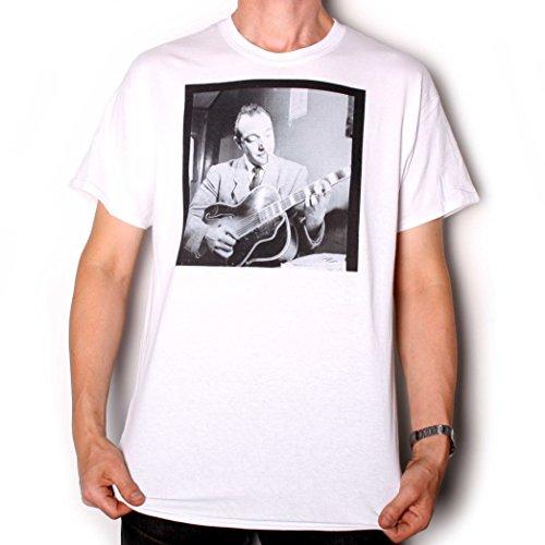 Jazz T Shirt da Old Skool Hooligan-Django Reinhardt Gottlieb verticale bianco 4XL