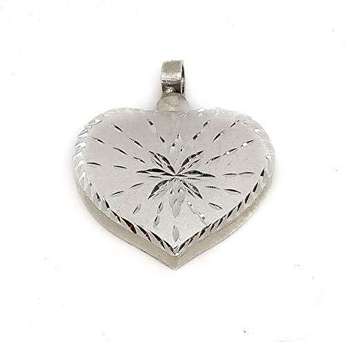 Minoplata Guardacenizas corazón de Plata de ley 25 x 29 Mm. un colgante que siempre irá contigo donde llevarás un recuerdo especial
