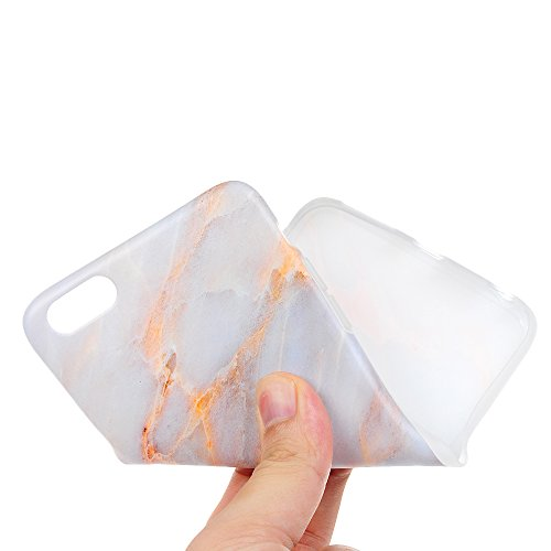 iPhone 6s Plus Marmor Hülle, KASOS Marble Handyhülle : Silikon Case Weich TPU Huelle mit IMD Technologie für iPhone 6 Plus, Champagner Champagner