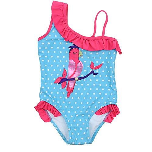Kostüm Vogel Muster - NgMik Komfortable Mädchen Vogel Muster Polka Dot Badeanzug Schwimmen Kostüm Bademode Strand Badeanzug Mädchen Kleidung Schwimmen EIN Stück (Größe : 3)