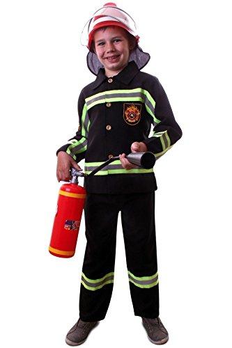 shoperama Kinder-Kostüm Feuerwehrmann inklusive Helm in guter Qualität Jungen Jacke Hose Sam, Kindergröße:140 - 8 bis 10 Jahre