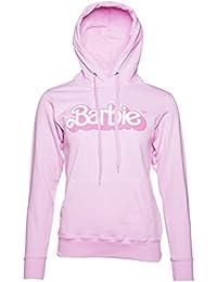 Womens Pink Barbie 80s Logo Hoodie