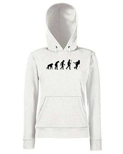 T-Shirtshock - Sweats a capuche Femme EVO0018 Funny Baseball Evolution Maglietta Blanc