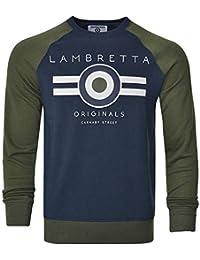 Lambrett Mens Sweatshirt Jumper Crew Neck Warm Winter Lightweight Cotton UK  S-4XL 3cf3655cc