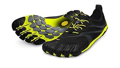Vibram Fivefingers Bikila Evo, Chaussures de Running Entrainement Homme - Noir (Black/Yellow), 40 EU (6.5 UK)