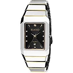 Square steel watch/Casual fashion quartz watch/Men and women couples form-A