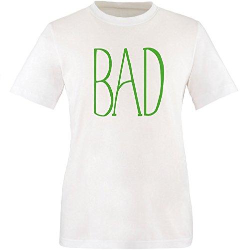 EZYshirt® BAD Herren Rundhals T-Shirt Weiß/Grün