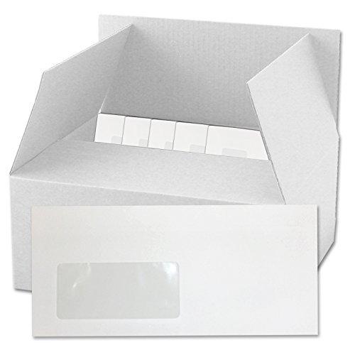 Versando - 1000 sobres con ventana DIN-L 22x11 cm y cierre adhesivo por presión interna, sobres libres de celulosa certificado SK, color blanco