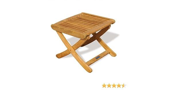 Teak Footstool/Side Garden table - Jati Brand, Quality & Value Amazon.co.uk  Garden & Outdoors