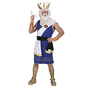 WIDMANN WDM73611?Disfraz para adultos de Zeus, de color azul, talla S