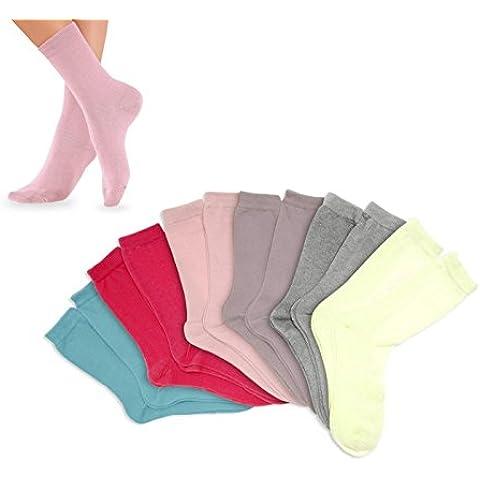 Pack de calcetines infantiles para niña (3 – 6 – 12 unidades) en diferentes colores y tallas mws1852/21 (PACK 6 - TALLA 22 A 26)
