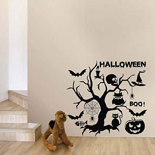 Halloween Wandaufkleber, Zolimx Neue Halloween Cartoon Wandaufkleber Fenster Dekoration Abziehbild Dekor (Animierte Halloween-dekoration Neue)