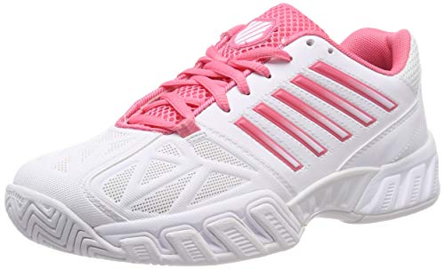 K-Swiss Performance Damen Bigshot Light 3 Tennisschuhe Weiß (White/Pink Lemonade 175M) 37 - Damen Allcourt Tennisschuhe