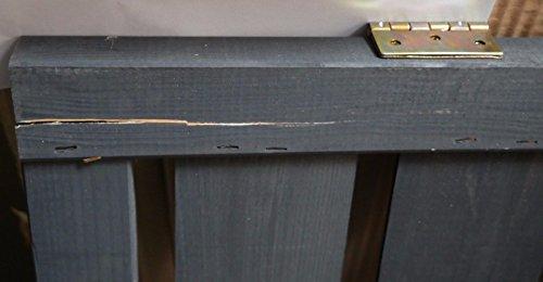 Mülltonnenbox schwarz 1 Tonne FSC Holz Verkleidung Mülltonnenverkleidung B-WARE - 3