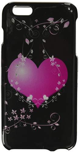 Eagle Zelle Snap auf Bild Hard Case für Apple iPhone 6Plus-Retail Verpackung, Heart Black/Pink Hearts Hard Case, Snap