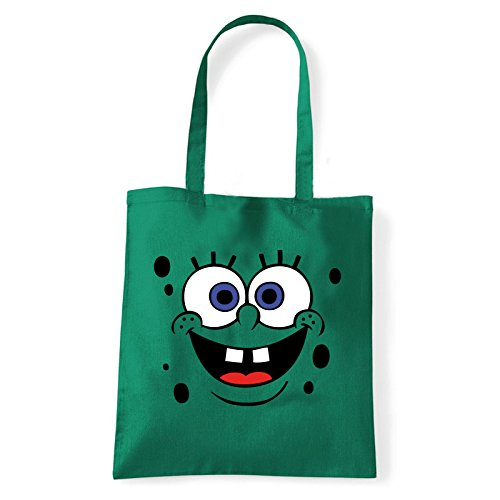 Art T-shirt, Borsa Shoulder spongebob Verde