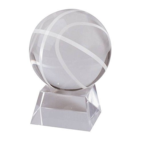 ll ''Pokal'', Trophäe für Vitrine, transparent, H= 8cm, Gravur geeignet (GERMAN CRYSTAL powered by CRISTALICA) (Glas Basketball Vitrine)