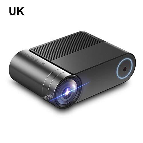 Ploufer HD 1080P Tragbarer Mini-Videoprojektor, LED-Video-Multi-Media-Projektor Für Heimkino-Kino-Filmabendspiel-TV, DVD-Laptop-Smartphone, Kompatibel Mit HDMI, VGA, AV Und USB Astounding