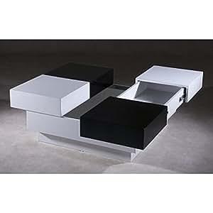 CHESS TABLE BASSE NOIR/BLANC