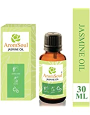 AromSoul Jasmine Essential Oil Pure and Natural, Therapeutic Grade (30 ml)
