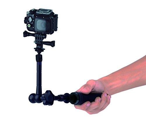 NILOX Teleskop-Halterung 360 Drehgelenk kompatibel mit Allen Nilox Action-Kameras