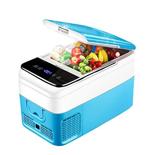 Xinjin Auto Kühlschrank Kompressor Gefrierschrank Kühlbox Digitalanzeige Temperaturregelung Auto/LKW nach Hause Dual-Use-12V 24V 220V Mini-Kühlschrank, blau -