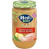 Hero Baby Verduritas de la Huerta con Delicias de Pavo, Tarrito de Cristal - 235 gr - [pack de 6]