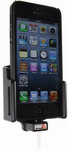 Brodit 514435 Kfz-Halterung mit Kabelanchluss für Apple iPhone 5 (59-63/6-10mm) schwarz (Apple Iphone 5-apps)