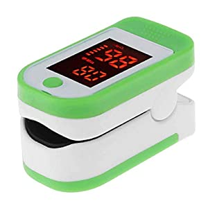 Pulsoximeter Fingeroximeter Pulsmesser mit OLED Digitaler Bildschirm Blut Sauerstoff Messgerät Blutdruckmessgerät Gesundheits Tool