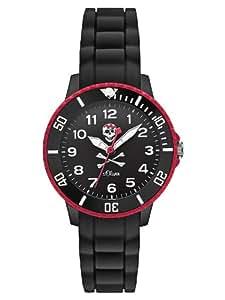 s.Oliver Jungen-Armbanduhr Analog Quarz Silikon SO-2588-PQ