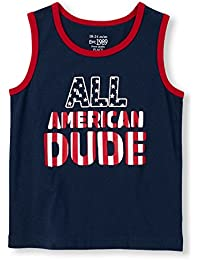 The Children's Place Boys' Matchables Sleeveless 'All American Dude' Graphic Tank Top