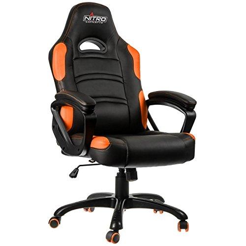 Nitro Concepts C80 Comfort Gaming Negro/Naranja - Silla Gaming