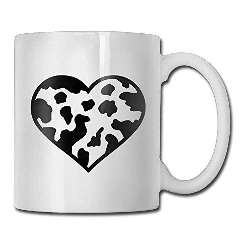 Nisdsgd Milk Cow Heart Coffee Mugs 11 Oz Travel Gift Ceramic Tea Cup for Family and Friend 3.14W x 3.74H(8x9.5cm) 16 Oz Tall Iced Tea